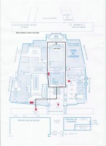 JAF Plan du palais de justice de Paris